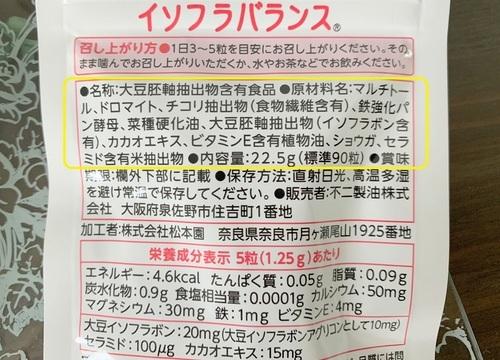 イソフラバランス 全成分.JPG