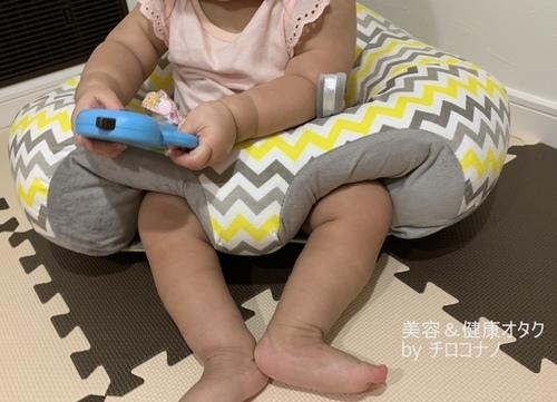ハガブー おもちゃで遊べる おとなしく座る.JPG