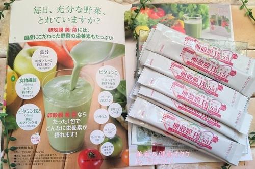 卵殻膜美-菜 おいしい青汁 健康 スピルリナ グリーンスムージー 美肌 野菜不足 口コミ3.JPG