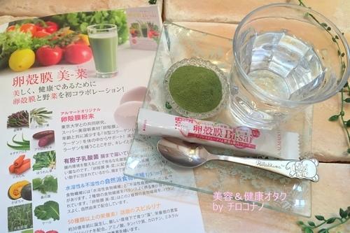 卵殻膜美-菜 おいしい青汁 健康 スピルリナ グリーンスムージー 美肌 野菜不足 口コミ6.JPG