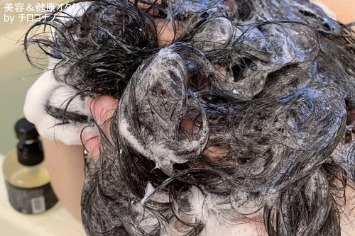 MONOVOヘアトニックブラックシャンプー 薄毛 抜け毛 頭皮ケア アミノ酸シャンプー ノンシリコン 泡パック 低刺激 髪にやさしい おすすめ 口コミ5.JPG